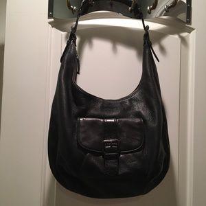 Calvin Klein Black Cowhide Leather Bag